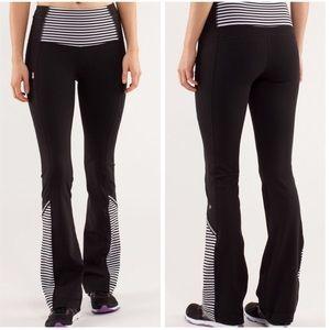 LULULEMON Run ice Queen Striped Pants 4